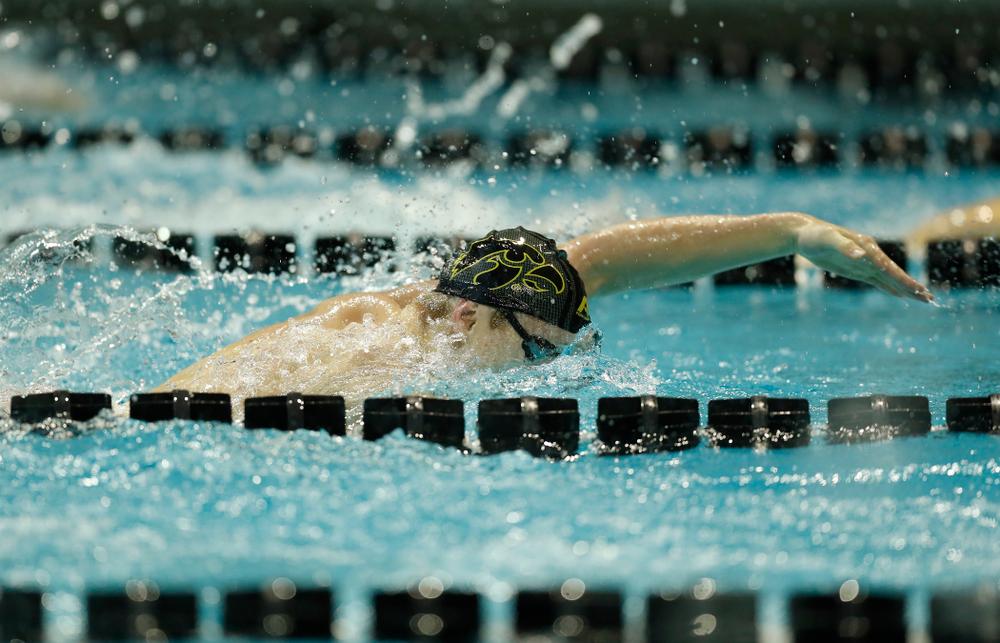Iowa's Joe Myhre swims the 200 yard freestyle