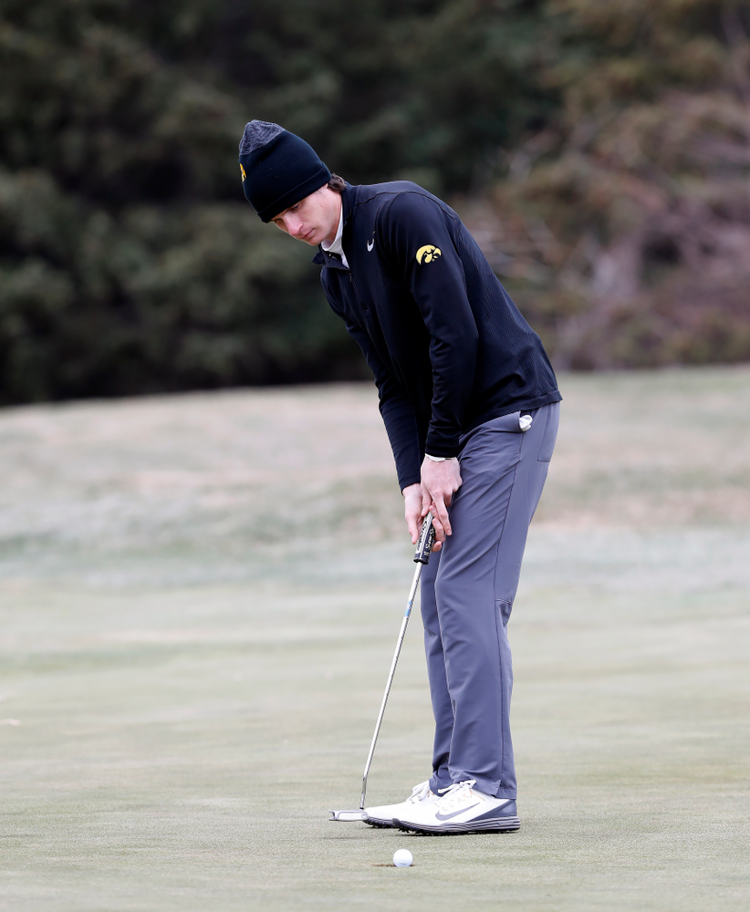 Sam Meuret during the 2018 Hawkeye Invitational  Friday, April 13, 2018 at Finkbine Golf Course. (Brian Ray/hawkeyesports.com)