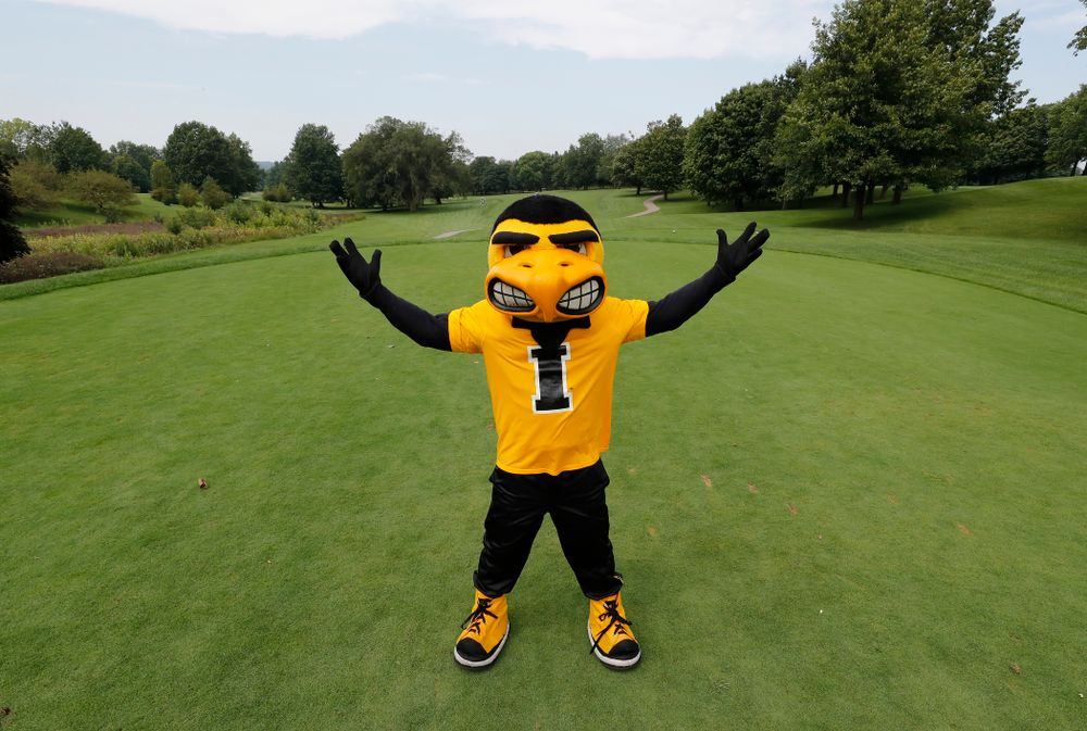 Herky at the 2018 Chris Street Memorial Golf Outing Monday, August 27, 2018 at Finkbine Golf Course. (Brian Ray/hawkeyesports.com)