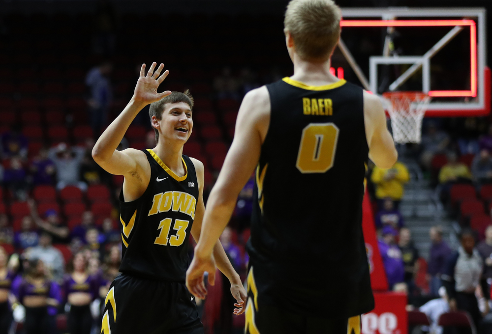 Iowa Hawkeyes guard Austin Ash (13) against the Northern Iowa Panthers in the Hy-Vee Classic Saturday, December 15, 2018 at Wells Fargo Arena in Des Moines. (Brian Ray/hawkeyesports.com)