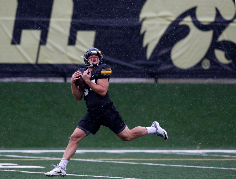 Iowa Hawkeyes wide receiver Nick Easley (84) during camp practice No. 15  Monday, August 20, 2018 at the Hansen Football Performance Center. (Brian Ray/hawkeyesports.com)