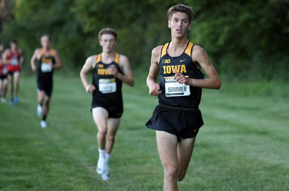 IowaÕs Konnor Sommer runs in the 2019 Hawkeye Invitational Friday, September 6, 2019 at the Ashton Cross Country Course. (Brian Ray/hawkeyesports.com)
