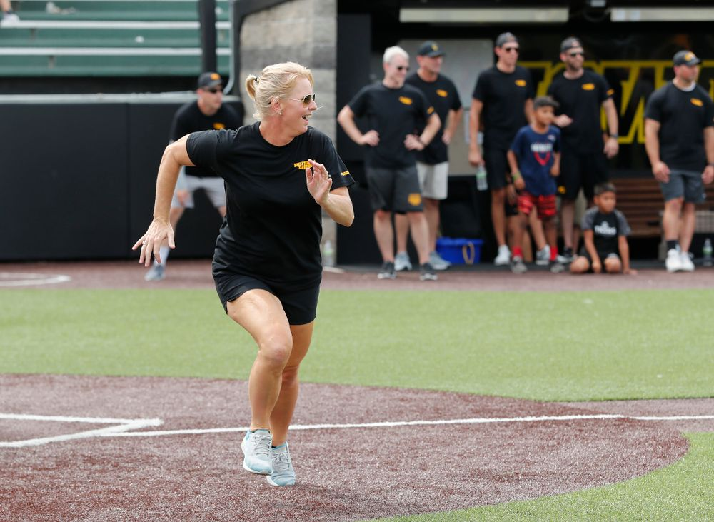Head Women's Tennis Coach Sasha Schmid during the Iowa Student Athlete Kickoff Kickball game  Sunday, August 19, 2018 at Duane Banks Field. (Brian Ray/hawkeyesports.com)