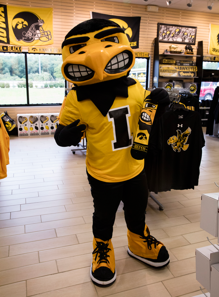The Grand Opening of the new Hawkeye Fan Shop.
