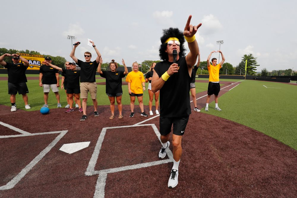 Head volleyball coach Bond Shymansky during the Iowa Student Athlete Kickoff Kickball game  Sunday, August 19, 2018 at Duane Banks Field. (Brian Ray/hawkeyesports.com)