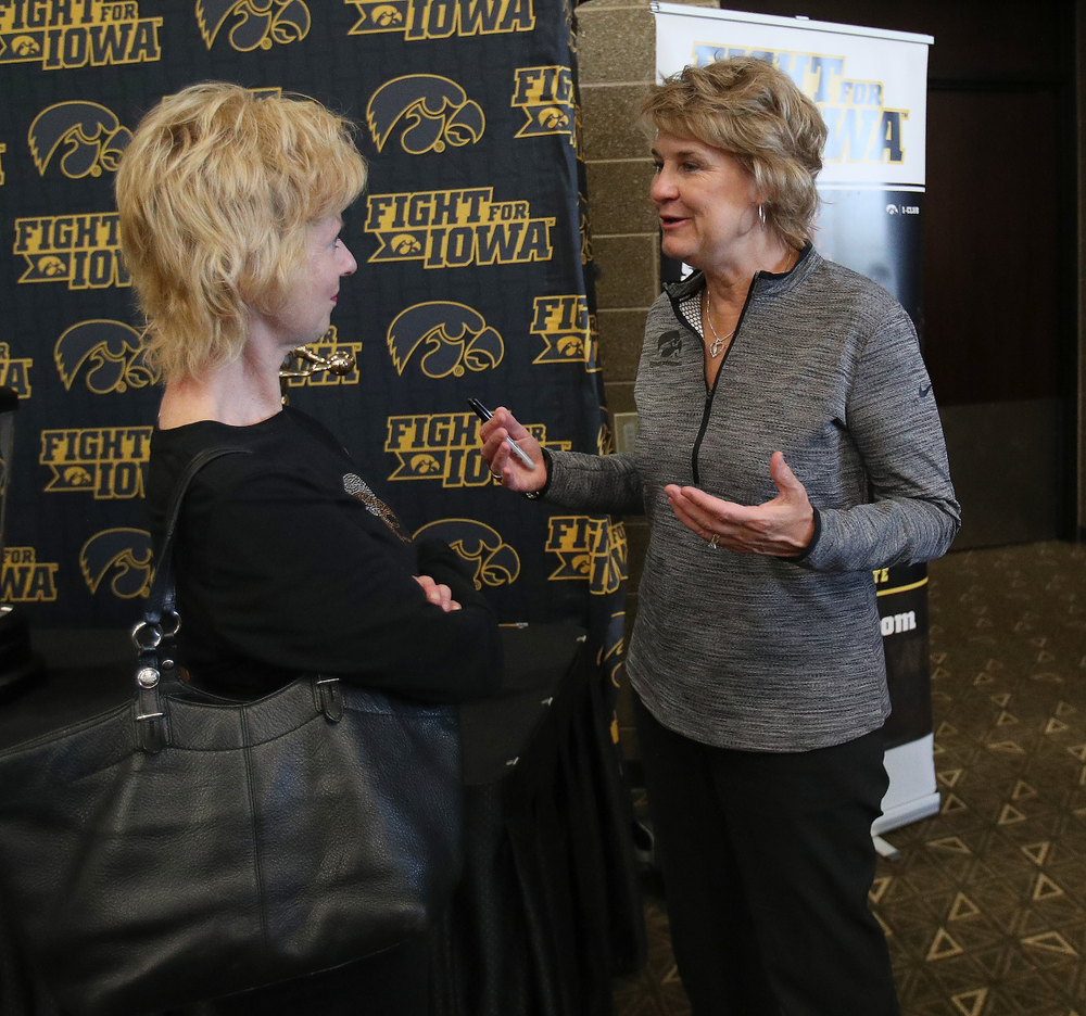 Lisa Bluder -- Hawkeye Fan Event at the Quad-Cities Waterfront Convention Center in Bettendorf, Iowa, on May 15, 2019.