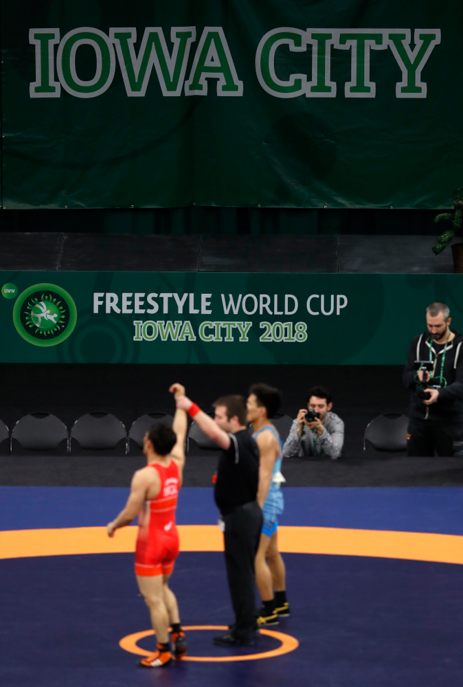The United World Wrestling Freestyle World Cup Saturday, April 7, 2018 at Carver-Hawkeye Arena. (Brian Ray/hawkeyesports.com)