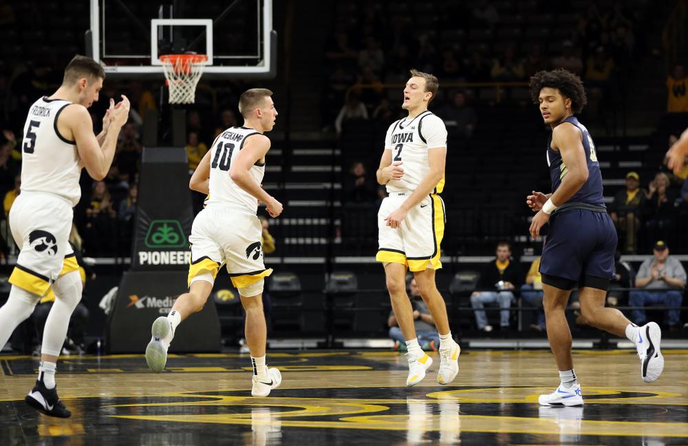 Iowa Hawkeyes forward Jack Nunge (2) against Oral Roberts Friday, November 15, 2019 at Carver-Hawkeye Arena. (Brian Ray/hawkeyesports.com)