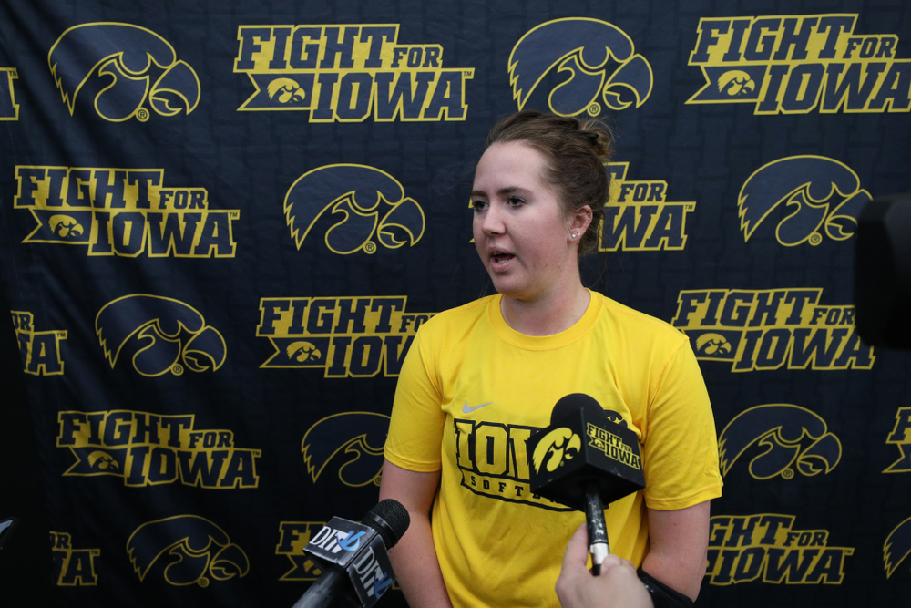 Iowa Hawkeyes Mallory Kilian (11) during they team's annual media day Friday, February 1, 2019 at the Hawkeye Tennis and Recreation Complex. (Brian Ray/hawkeyesports.com)