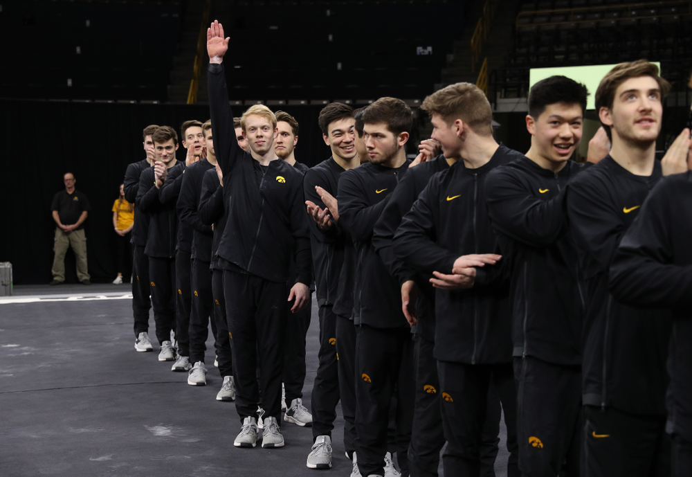Iowa's Nick Merryman following their meet against the Ohio State Buckeyes Saturday, March 16, 2019 at Carver-Hawkeye Arena.  (Brian Ray/hawkeyesports.com)