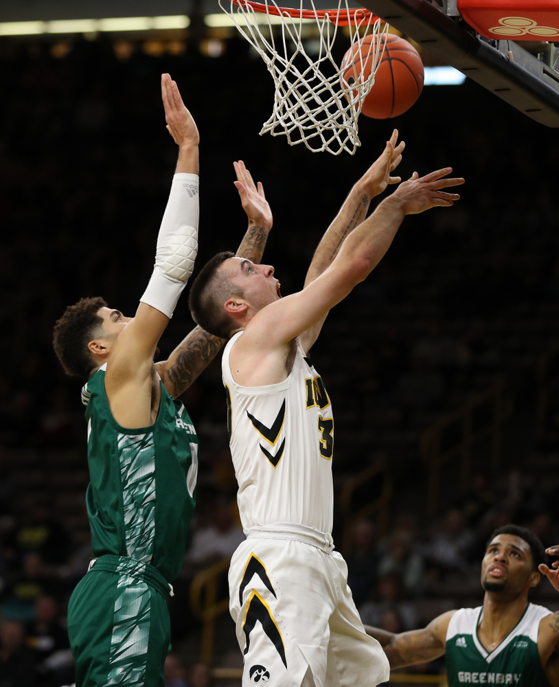 Iowa Hawkeyes guard Connor McCaffery (30) against UW Green Bay Sunday, November 11, 2018 at Carver-Hawkeye Arena. (Brian Ray/hawkeyesports.com)