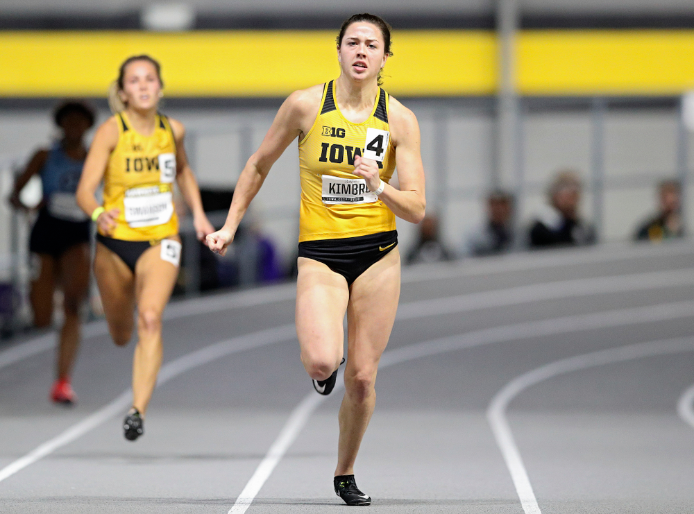 Iowa's Jenny Kimbro runs the women's 200 meter dash event during the Hawkeye Invitational at the Recreation Building in Iowa City on Saturday, January 11, 2020. (Stephen Mally/hawkeyesports.com)