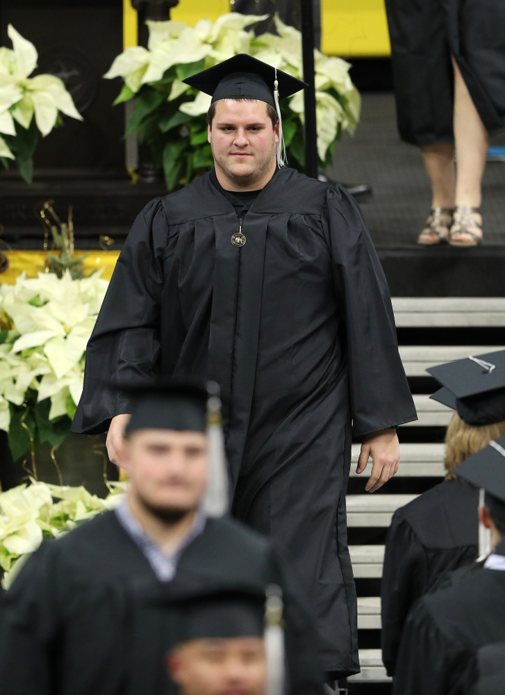 Iowa Football's Keegan Render during the Fall Commencement Ceremony  Saturday, December 15, 2018 at Carver-Hawkeye Arena. (Brian Ray/hawkeyesports.com)
