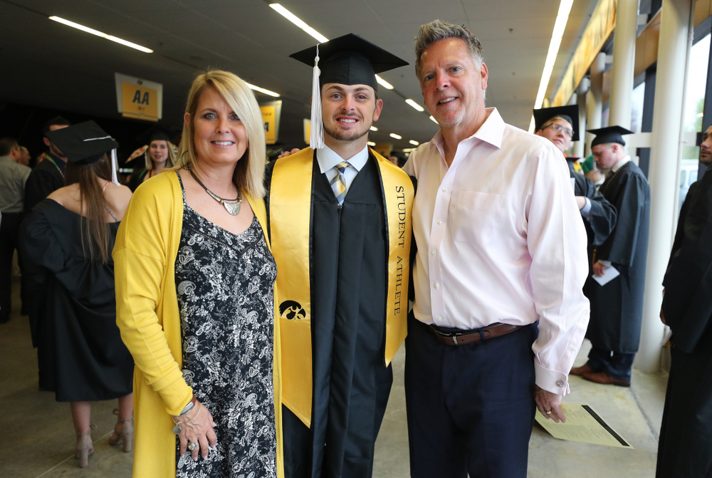 Iowa BaseballÕs Mitch Boe during the College of Liberal Arts and Sciences spring commencement Saturday, May 11, 2019 at Carver-Hawkeye Arena. (Brian Ray/hawkeyesports.com)