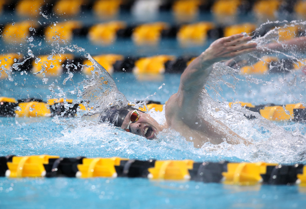 Iowa's Anze Fers Erzen swims in the preliminaries of the 200-yard IM during the 2019 Big Ten Swimming and Diving Championships Thursday, February 28, 2019 at the Campus Wellness and Recreation Center. (Brian Ray/hawkeyesports.com)