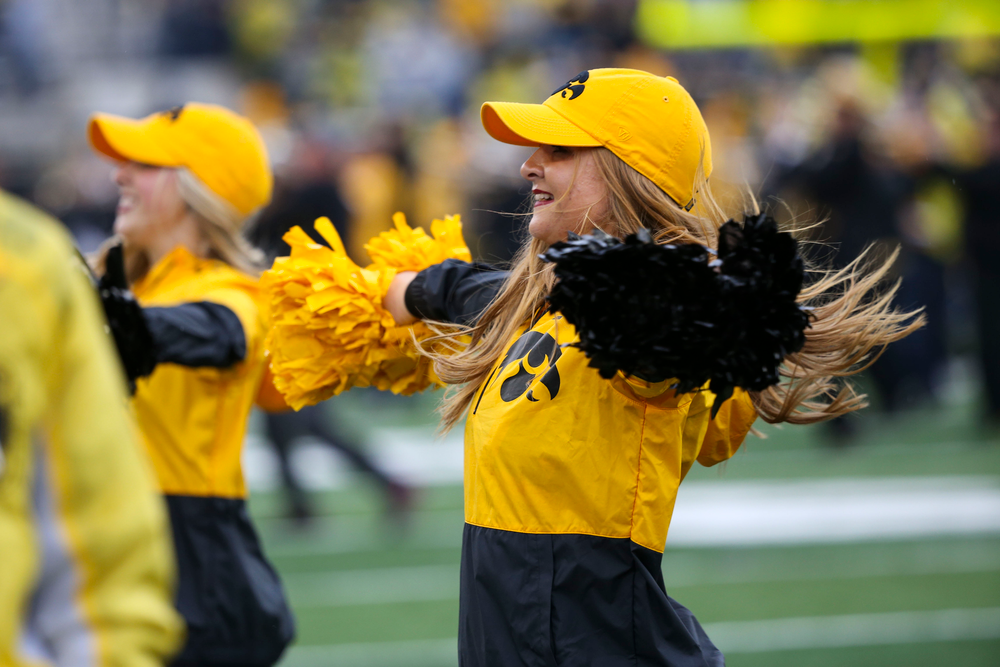 An Iowa Spirit Squad member during Iowa football vs Purdue on Saturday, October 19, 2019 at Kinnick Stadium. (Lily Smith/hawkeyesports.com)