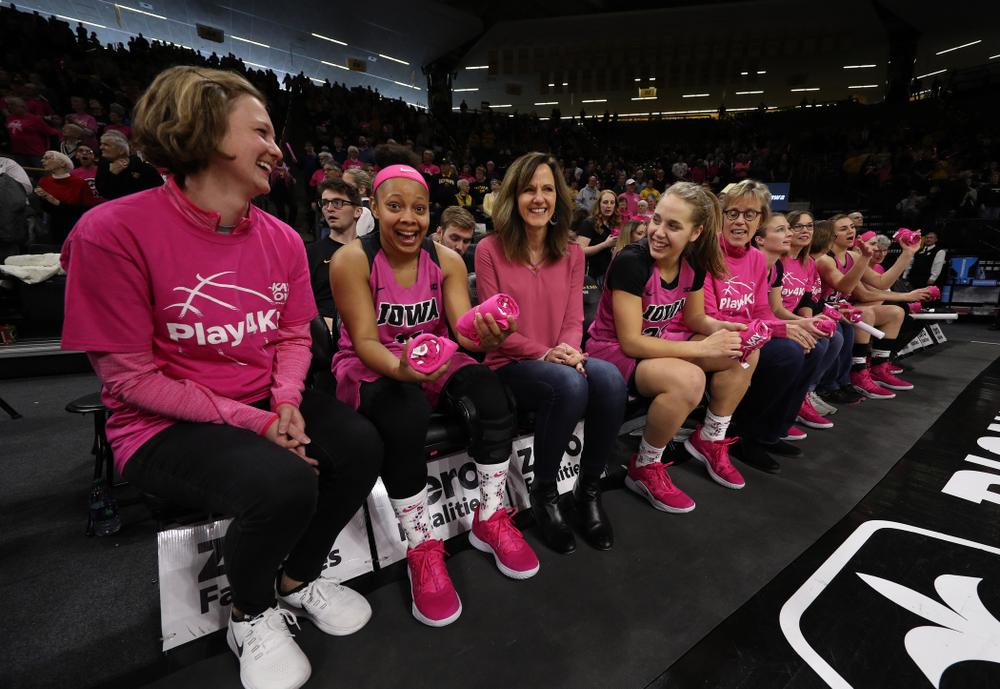 Iowa Hawkeyes guard Tania Davis (11) against the seventh ranked Maryland Terrapins Sunday, February 17, 2019 at Carver-Hawkeye Arena. (Brian Ray/hawkeyesports.com)