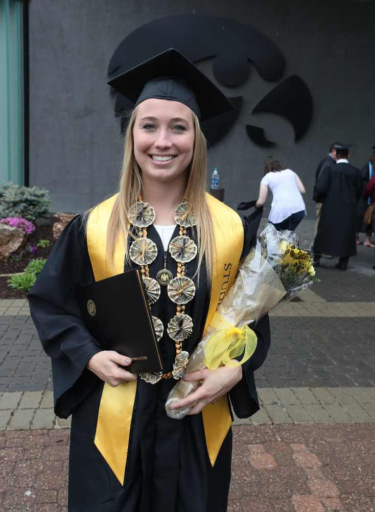 Iowa Field HockeyÕs Makenna Grewe during the College of Liberal Arts and Sciences spring commencement Saturday, May 11, 2019 at Carver-Hawkeye Arena. (Brian Ray/hawkeyesports.com)