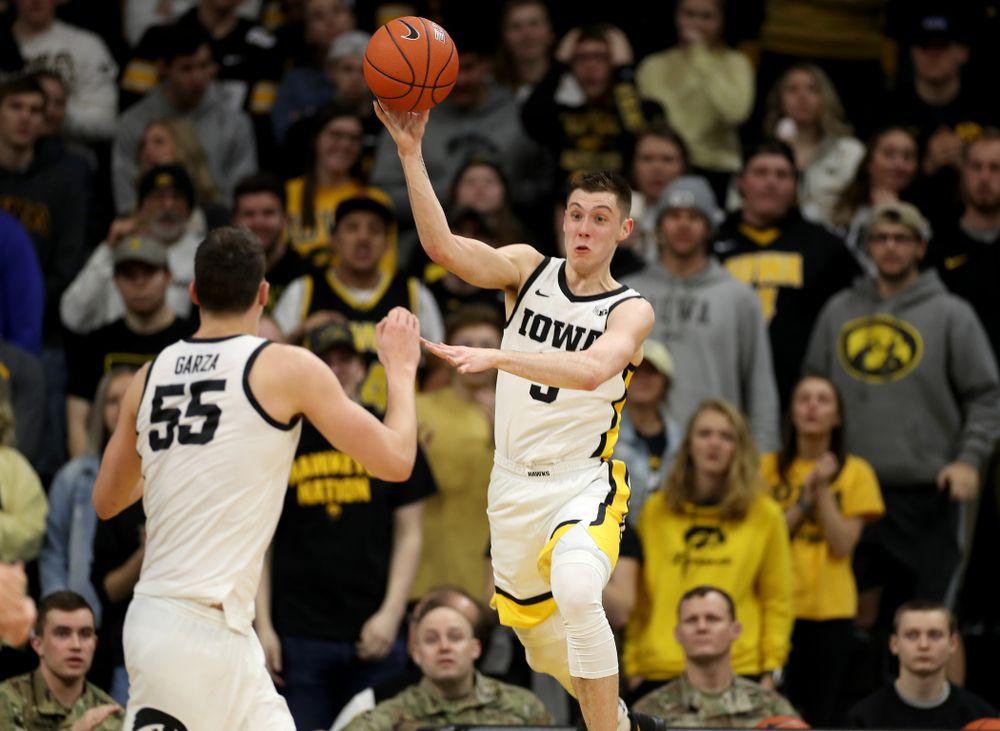 Iowa Hawkeyes guard CJ Fredrick (5) against Penn State Saturday, February 29, 2020 at Carver-Hawkeye Arena. (Brian Ray/hawkeyesports.com)