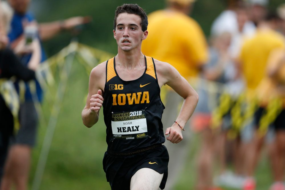 Noah Healy during the Hawkeye Invitational Friday, August 31, 2018 at the Ashton Cross Country Course.  (Brian Ray/hawkeyesports.com)