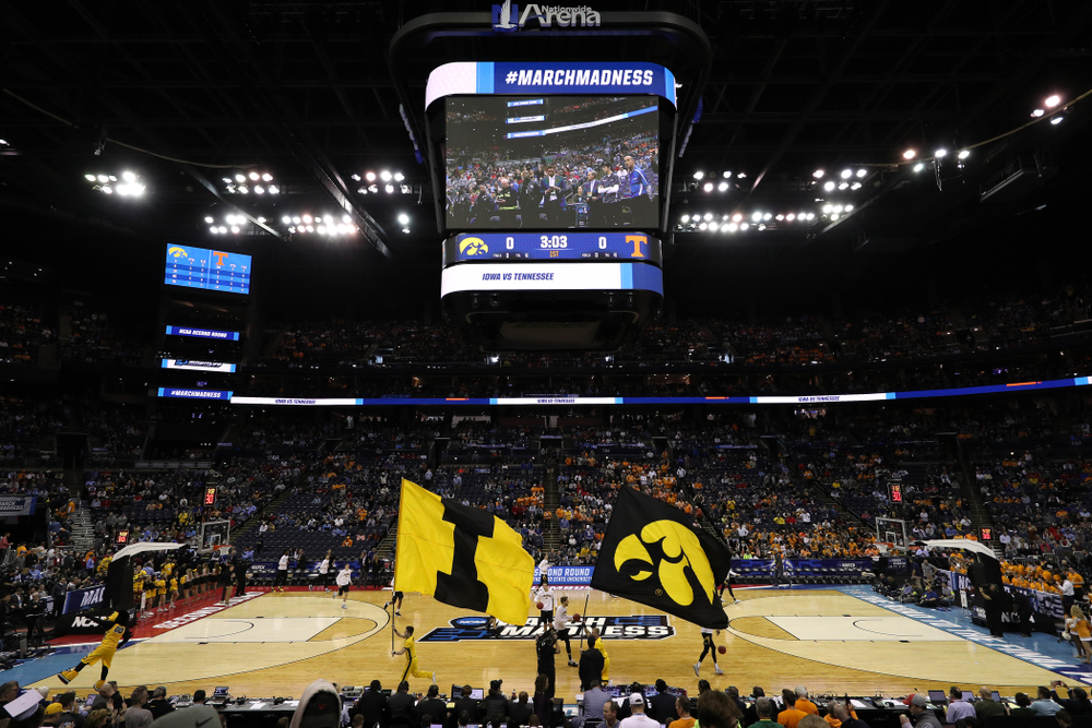 The Iowa Hawkeye against the Tennessee Volunteers in the second round of the 2019 NCAA Men's Basketball Tournament Sunday, March 24, 2019 at Nationwide Arena in Columbus, Ohio. (Brian Ray/hawkeyesports.com)