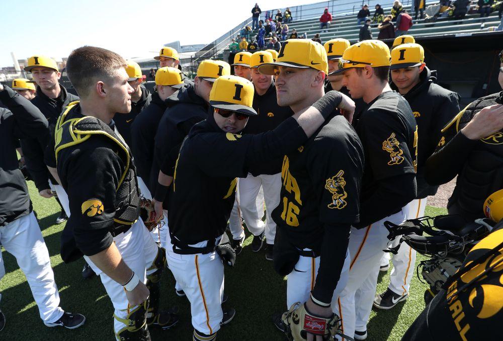 The Iowa Hawkeyes against California State Northridge Sunday, March 17, 2019 at Duane Banks Field. (Brian Ray/hawkeyesports.com)