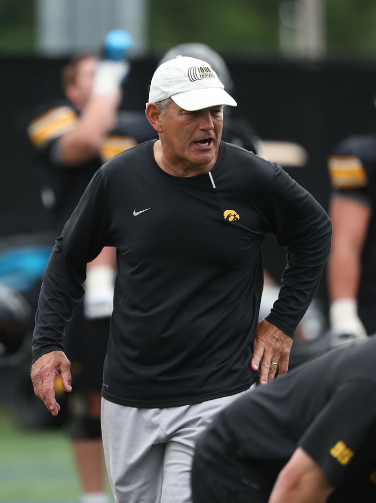 Iowa Hawkeyes head coach Kirk Ferentz during practice No. 4 of Fall Camp Monday, August 6, 2018 at the Hansen Football Performance Center. (Brian Ray/hawkeyesports.com)
