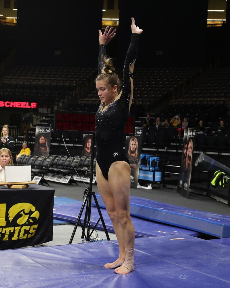 Iowa's Mackienzie Vance competes on the vault during their meet against Southeast Missouri State Friday, January 11, 2019 at Carver-Hawkeye Arena. (Brian Ray/hawkeyesports.com)