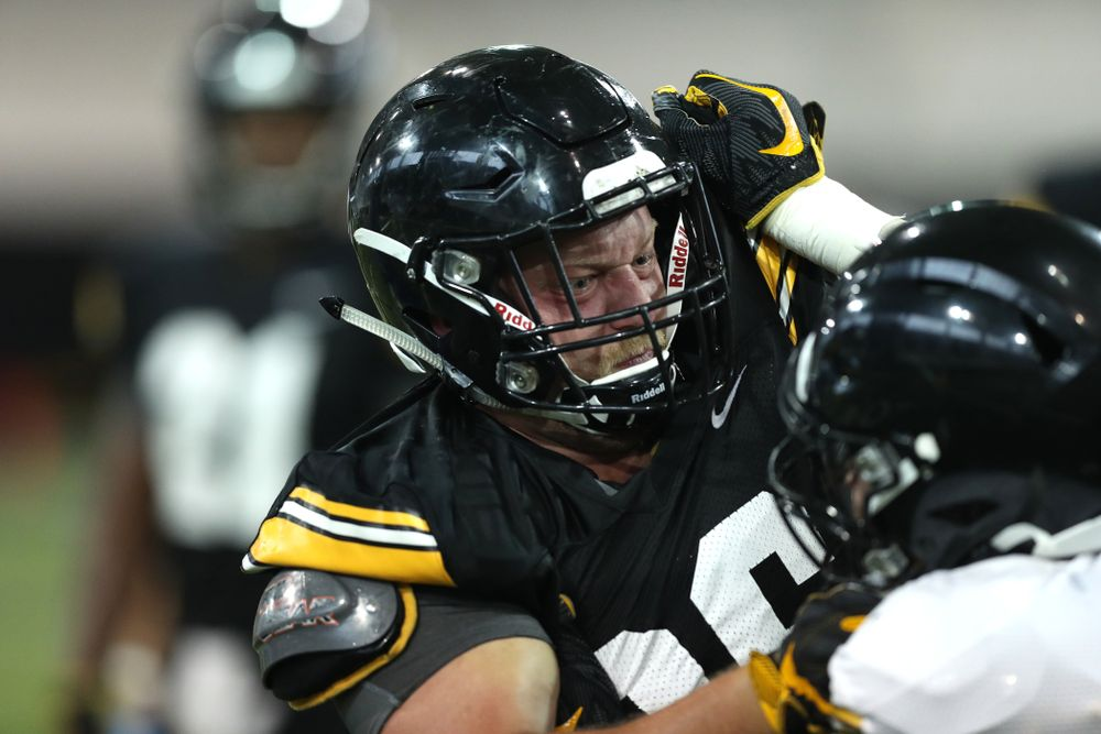 Iowa Hawkeyes fullback Brady Ross (36) during Fall Camp Practice No. 16 Tuesday, August 20, 2019 at the Ronald D. and Margaret L. Kenyon Football Practice Facility. (Brian Ray/hawkeyesports.com)