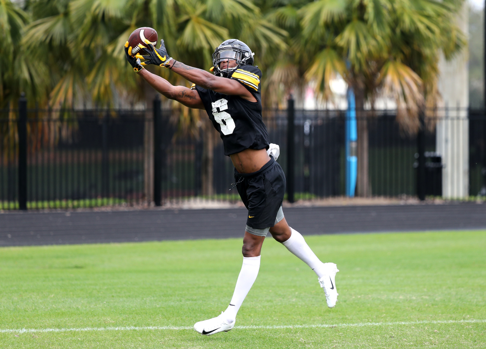Iowa Hawkeyes wide receiver Ihmir Smith-Marsette (6) as the team prepares for the Outback Bowl Saturday, December 29, 2018 at Tampa University. (Brian Ray/hawkeyesports.com)