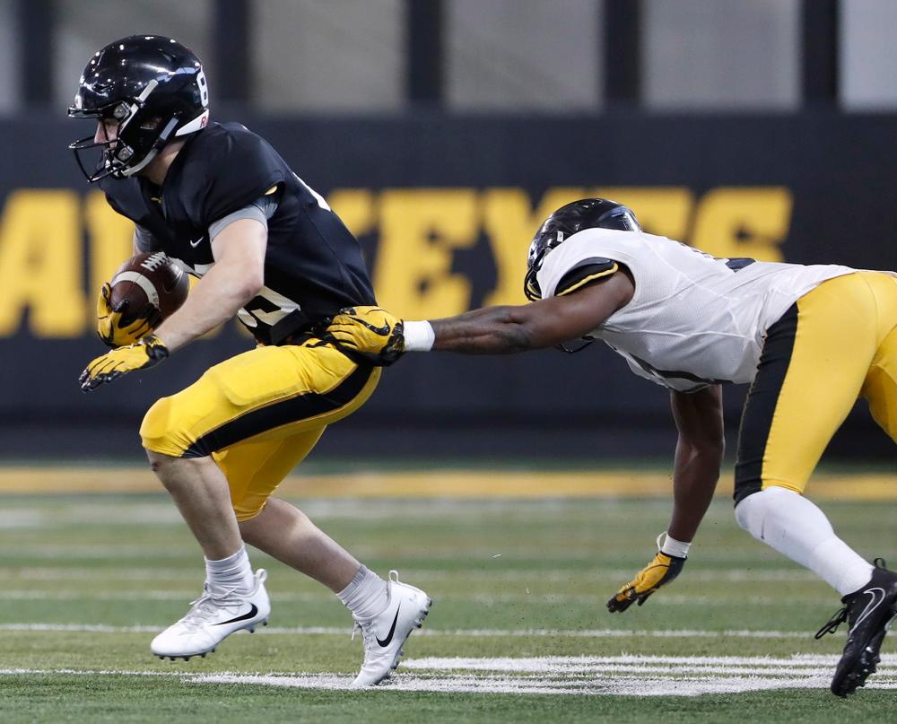 Nico Ragaini -- University of Iowa spring football practice No. 6 on March 31, 2018, in Iowa City, Iowa. (Darren Miller/hawkeyesports.com)