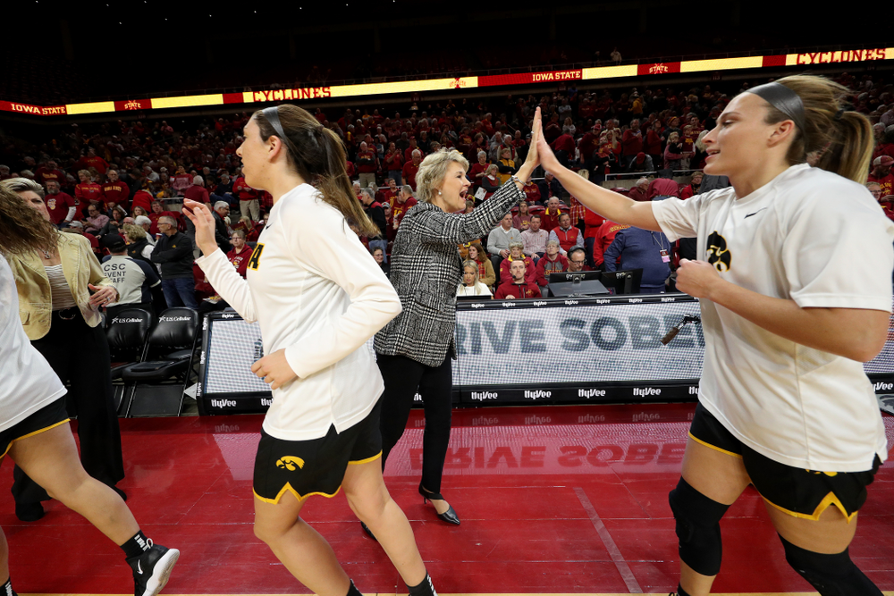 Iowa Hawkeyes head coach Lisa Bluder against the Iowa State Cyclones Wednesday, December 11, 2019 at Hilton Coliseum in Ames, Iowa(Brian Ray/hawkeyesports.com)