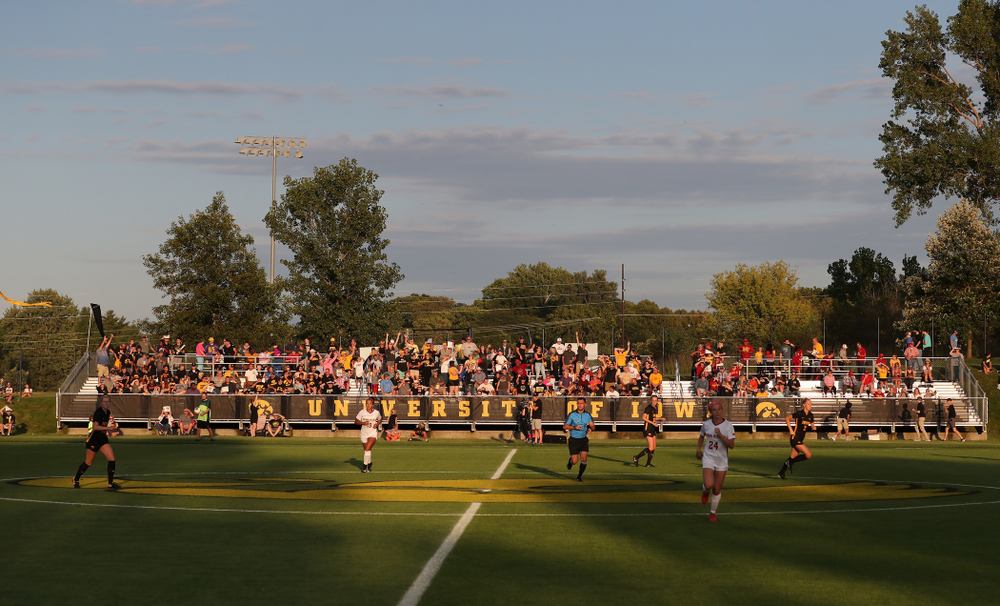 The Iowa Hawkeyes during a 2-1 victory over the Iowa State Cyclones Thursday, August 29, 2019 in the Iowa Corn Cy-Hawk series at the Iowa Soccer Complex. (Brian Ray/hawkeyesports.com)