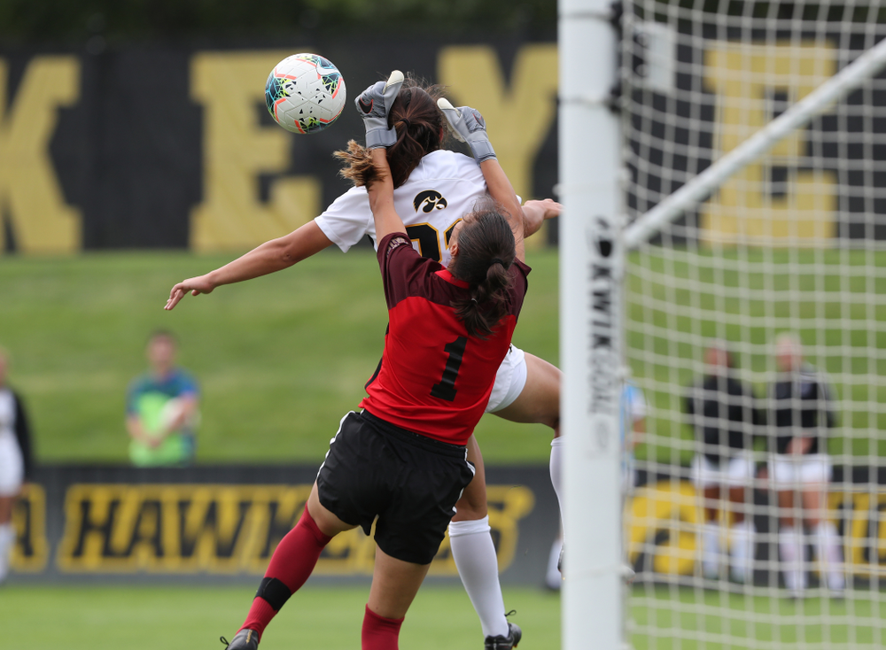 Iowa Hawkeyes forward Emma Tokuyama (21) during a 6-1 win over Northern Iowa Sunday, August 25, 2019 at the Iowa Soccer Complex. (Brian Ray/hawkeyesports.com)