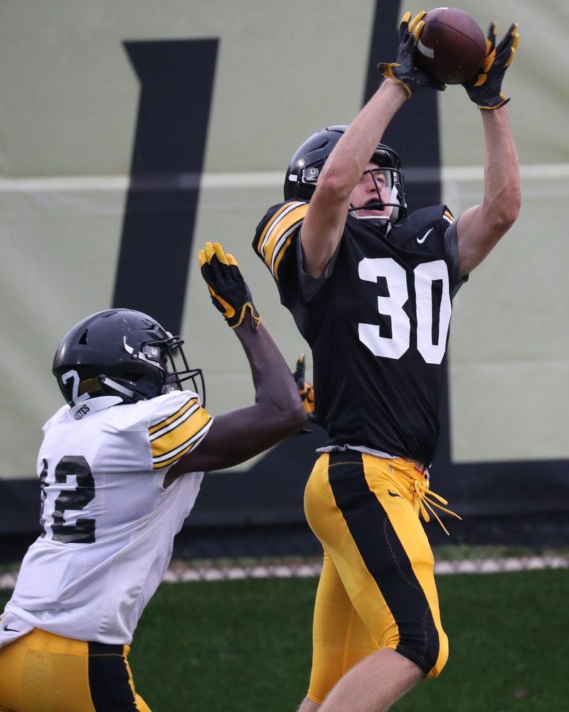 Iowa Hawkeyes wide receiver Quinn Schulte (30)