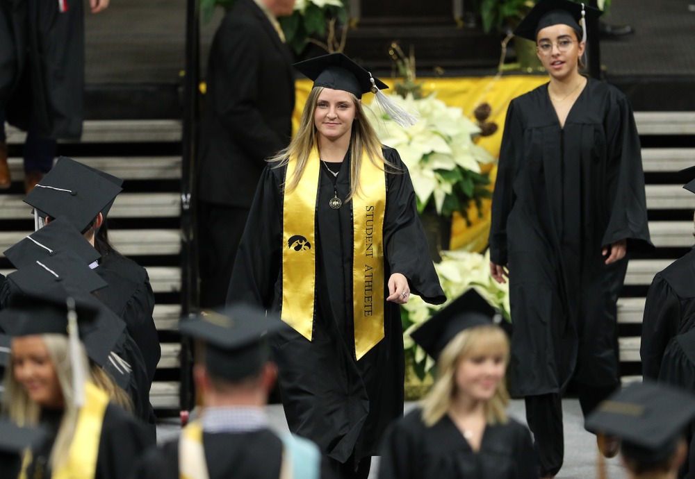 Iowa Soccer's Jenna Kentgen during the Fall Commencement Ceremony  Saturday, December 15, 2018 at Carver-Hawkeye Arena. (Brian Ray/hawkeyesports.com)