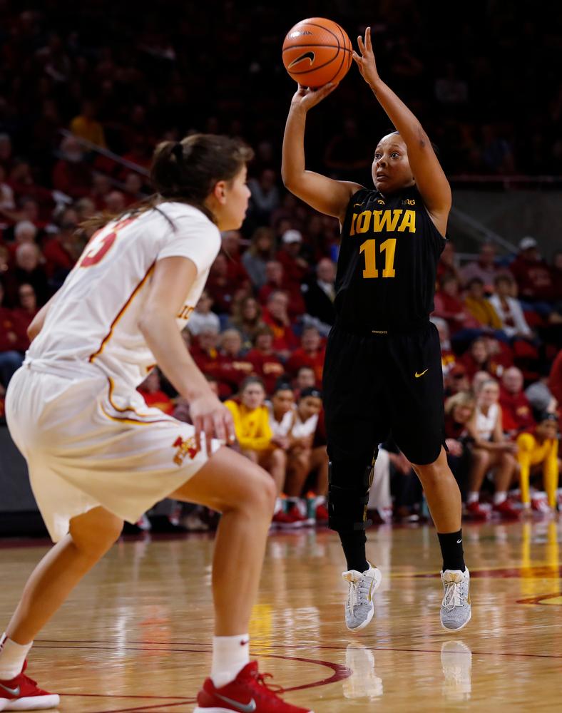 Iowa Hawkeyes guard Tania Davis (11)