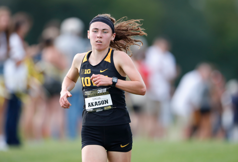 Logan Akason during the Hawkeye Invitational Friday, August 31, 2018 at the Ashton Cross Country Course.  (Brian Ray/hawkeyesports.com)
