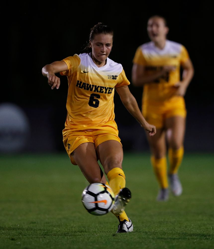 Iowa Hawkeyes Isabella Blackman (6) against the Missouri Tigers Friday, August 17, 2018 at the Iowa Soccer Complex. (Brian Ray/hawkeyesports.com)