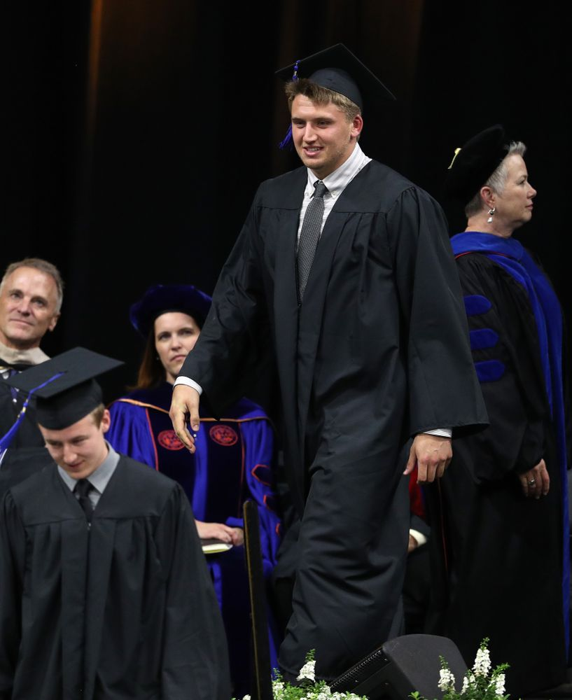 Hawkeye FootballÕs Drew Cook during the Tippie College of Business spring commencement Saturday, May 11, 2019 at Carver-Hawkeye Arena. (Brian Ray/hawkeyesports.com)