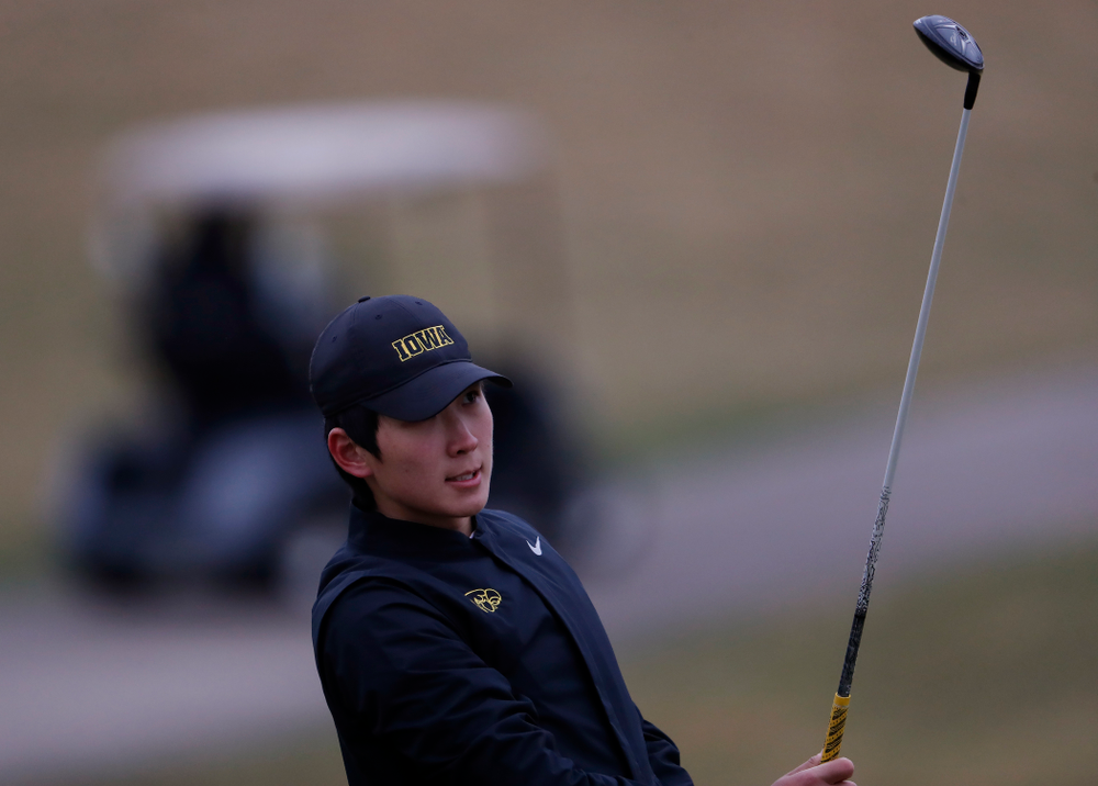 Iowa's Jaewook Lee during day two of the 2018 Hawkeye Invitational Friday, April 13, 2018 at Finkbine Golf Course. (Brian Ray/hawkeyesports.com)