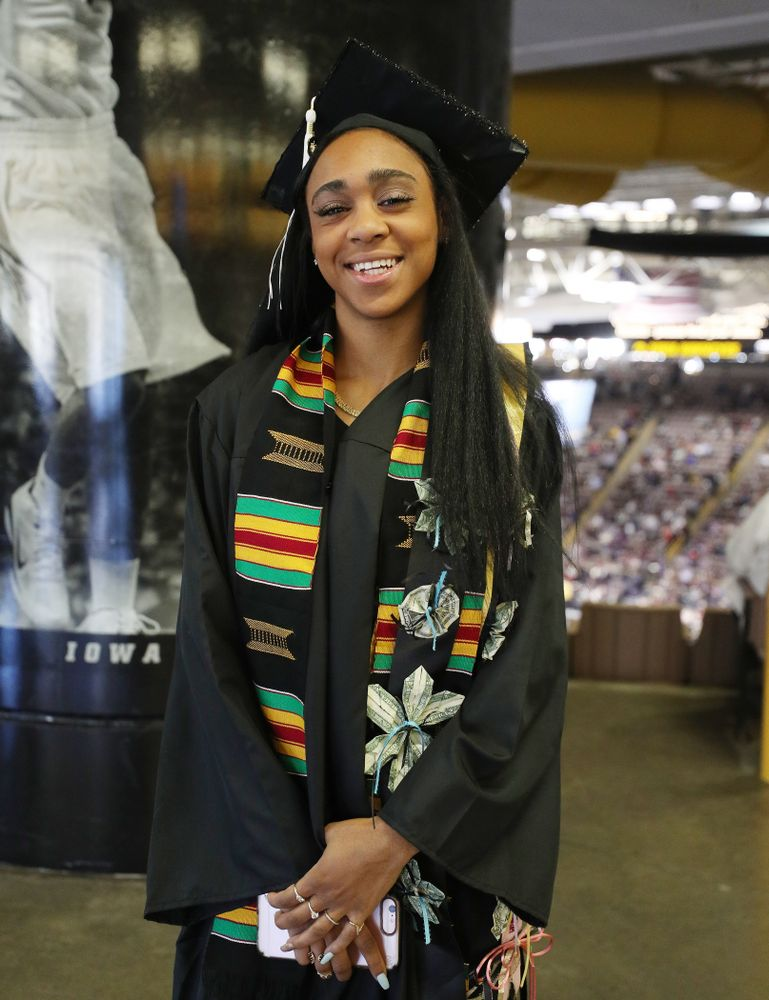 Track and Field's Briana Guillory during the Fall Commencement Ceremony  Saturday, December 15, 2018 at Carver-Hawkeye Arena. (Brian Ray/hawkeyesports.com)
