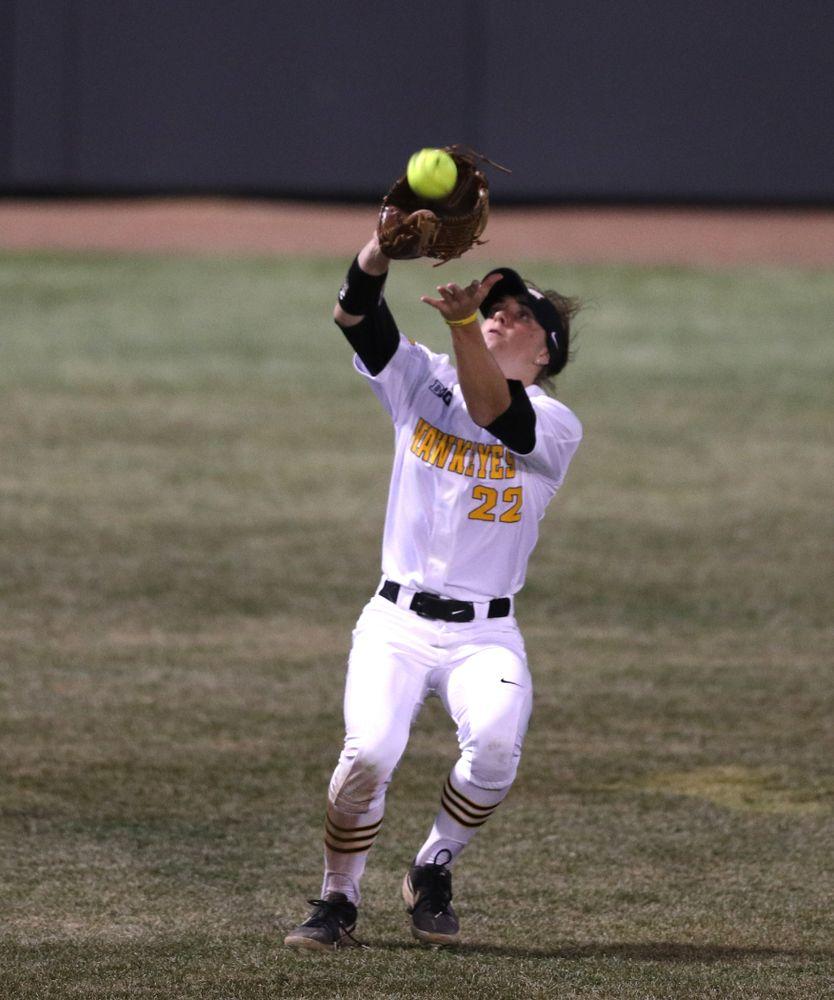 Iowa Hawkeyes Hallie Ketcham (22) against Western Illinois Wednesday, March 27, 2019 at Pearl Field. (Brian Ray/hawkeyesports.com)
