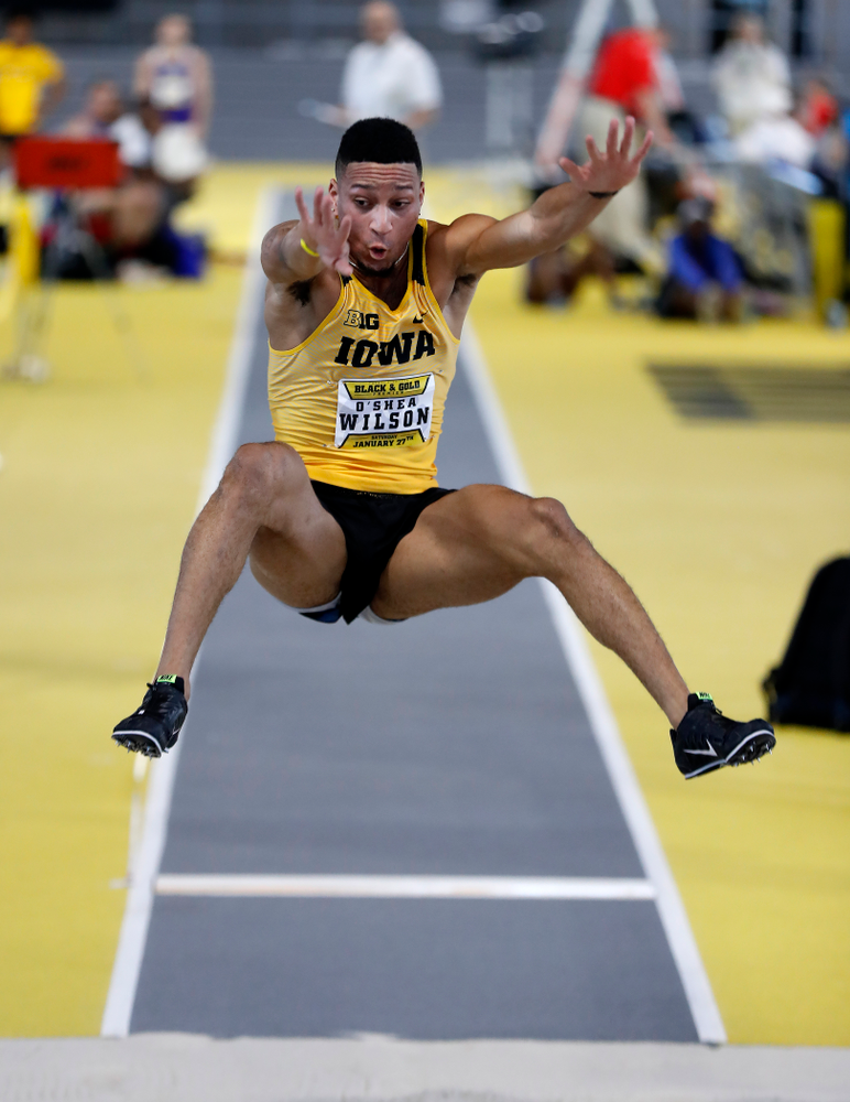 O'Shea Wilson competes in the long jump