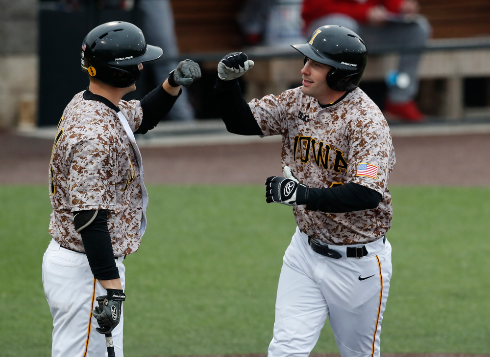 Iowa Hawkeyes infielder Chris Whelan (28) during a double header against the Indiana Hoosiers Friday, March 23, 2018 at Duane Banks Field. (Brian Ray/hawkeyesports.com)
