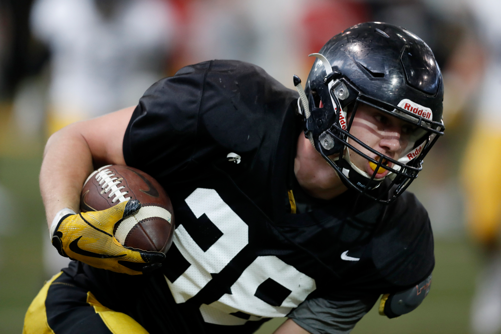 Iowa Hawkeyes tight end T.J. Hockenson (38) Wednesday, April 4, 2018 at the Hansen Football Performance Center. (Brian Ray/hawkeyesports.com)