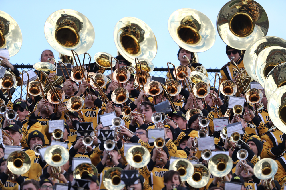 The Hawkeye Marching Band during the Iowa Hawkeyes game against the Purdue Boilermakers Saturday, November 3, 2018 Ross Ade Stadium in West Lafayette, Ind. (Brian Ray/hawkeyesports.com)
