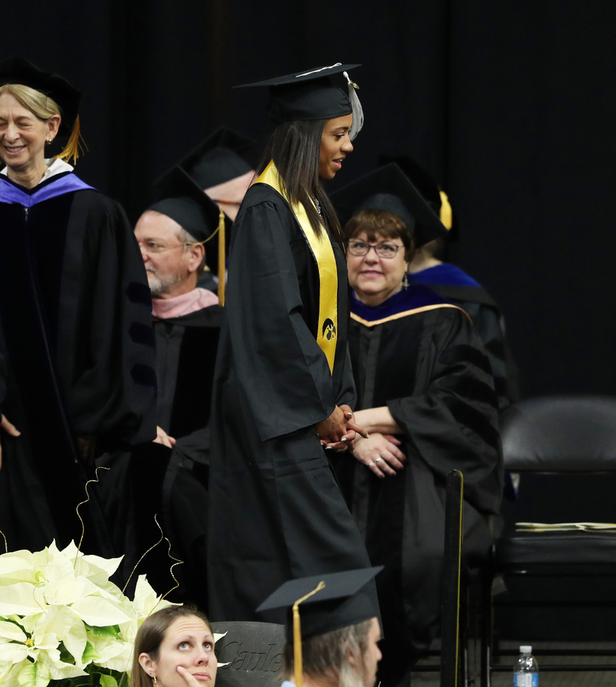 Iowa Track's Alexis Gay during the Fall Commencement Ceremony  Saturday, December 15, 2018 at Carver-Hawkeye Arena. (Brian Ray/hawkeyesports.com)