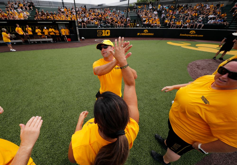 Women's  Golf Assistant Coach Mike Roters during the Iowa Student Athlete Kickoff Kickball game  Sunday, August 19, 2018 at Duane Banks Field. (Brian Ray/hawkeyesports.com)