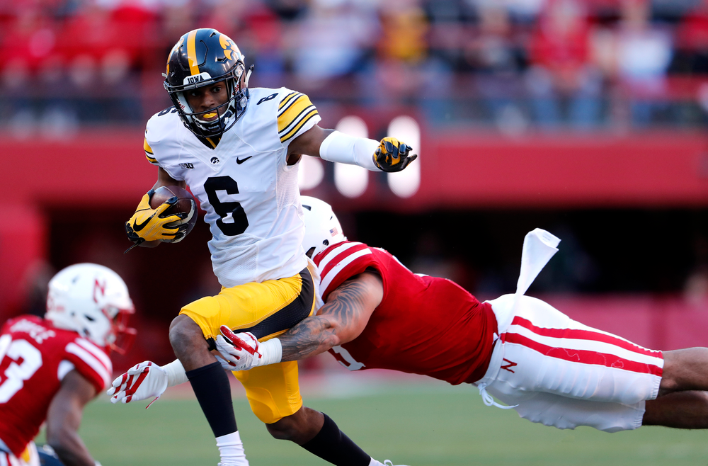 Iowa Hawkeyes wide receiver Ihmir Smith-Marsette (6)